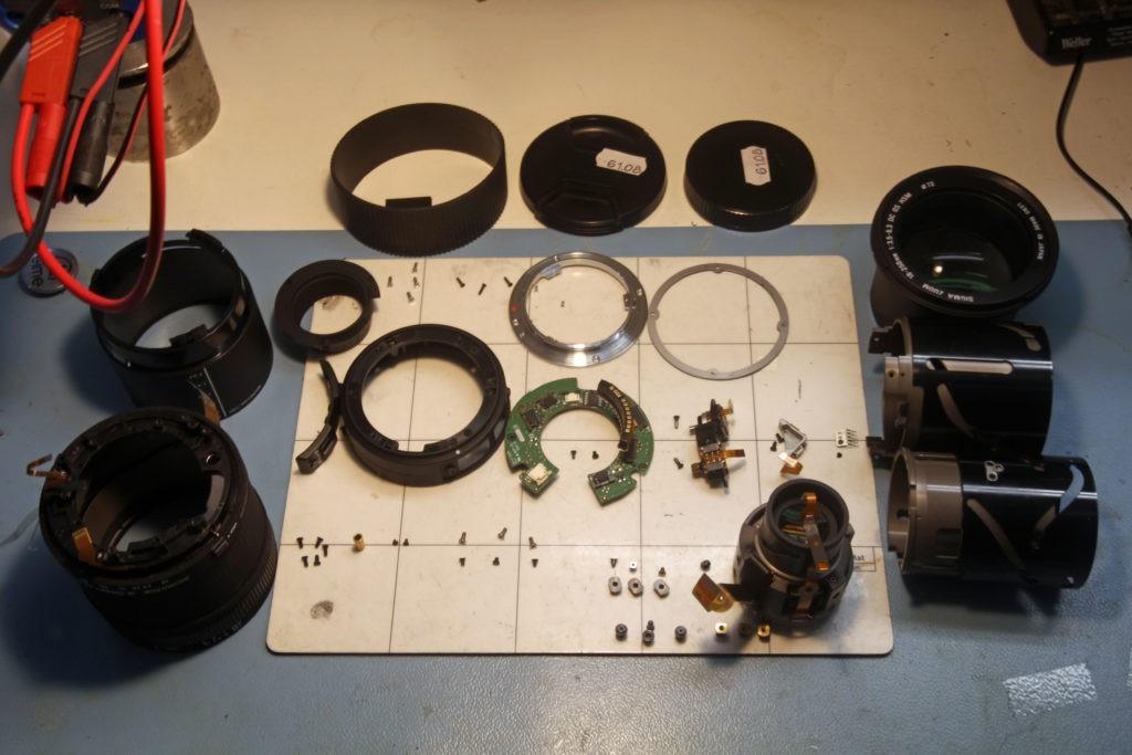Sigma lens reparatie