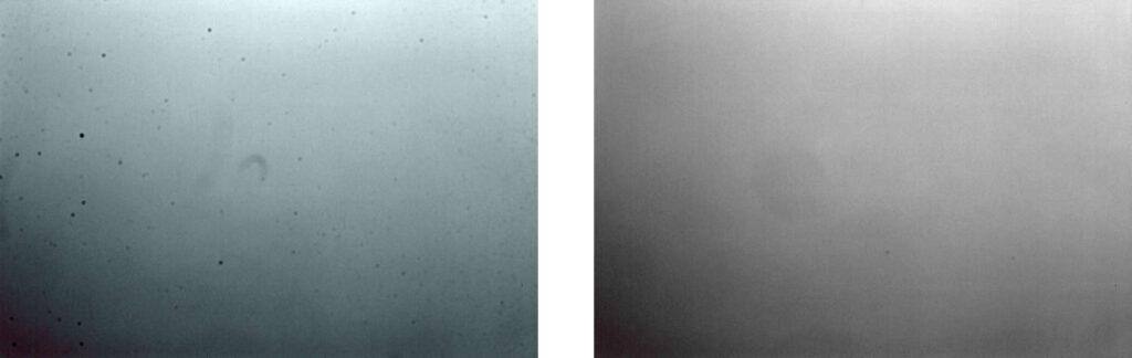 Voorbeeld foto voor- en na foto sensor reiniging
